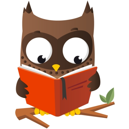 426x426 Owl Reading Clipart