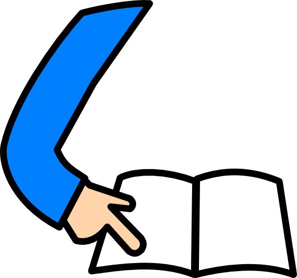 600x562 Student Reading Clipart