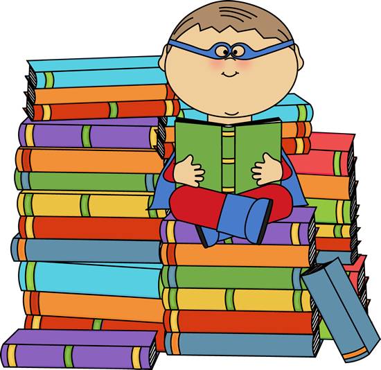 550x534 Super Hero Reading Boy Superhero Bookworm Clip Art Image