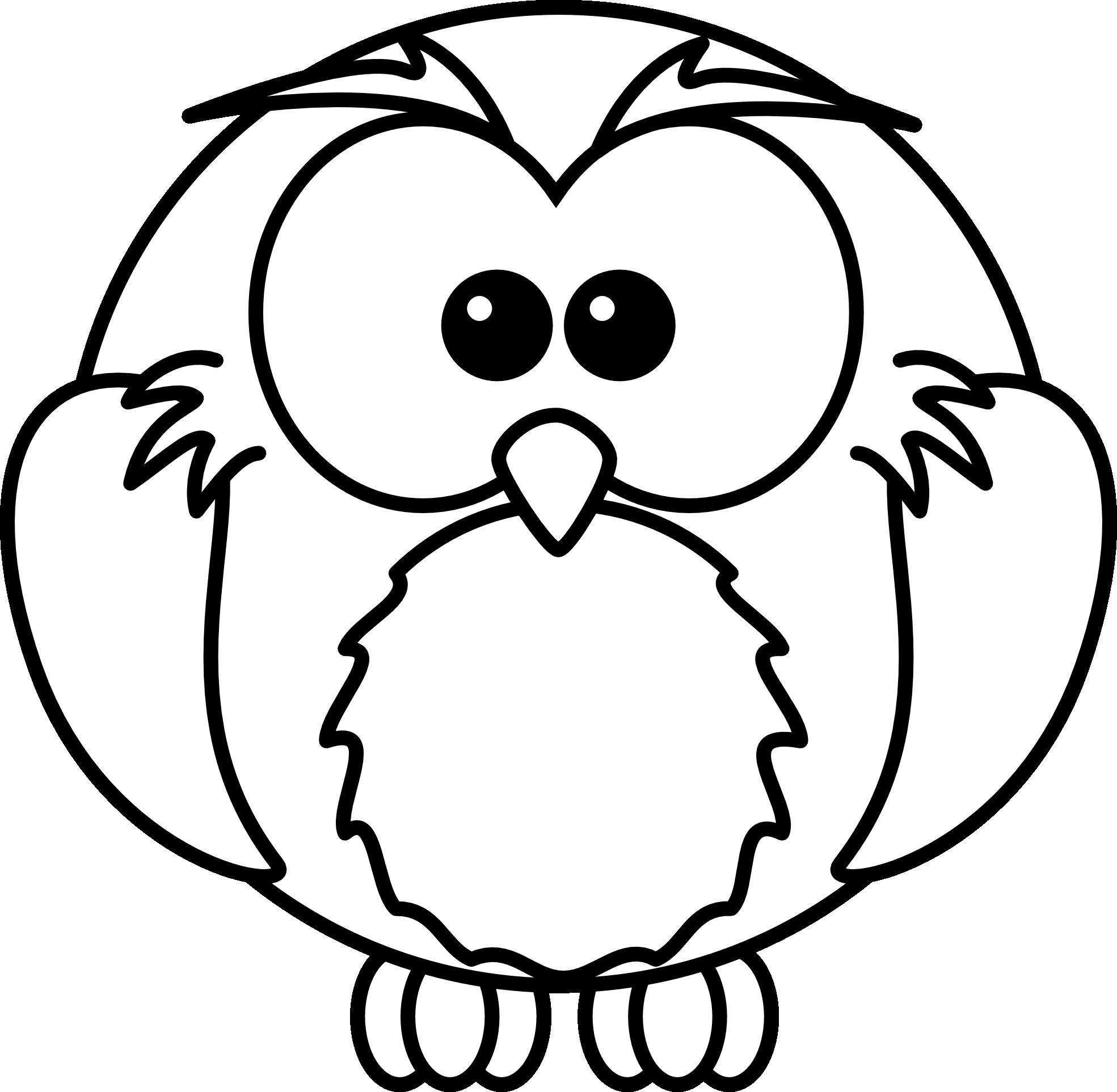 1969x1926 Owl Clip Art Black And White