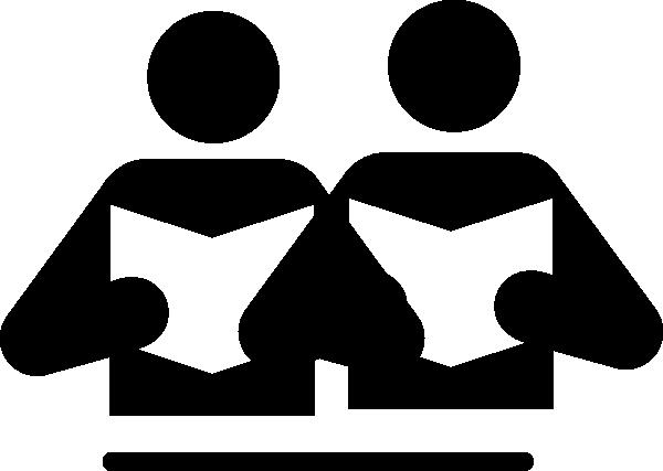 600x427 Partner Reading Simple Clip Art