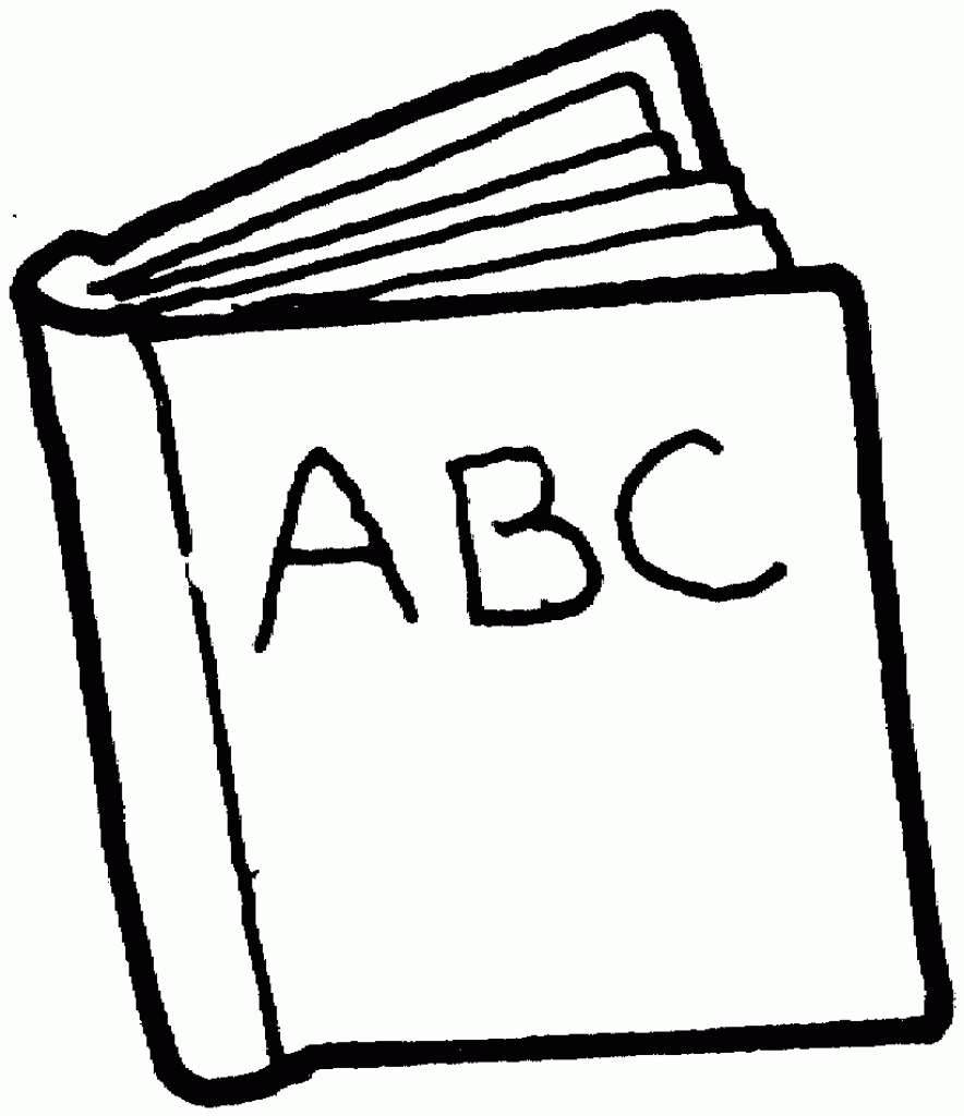 884x1024 Reading Book Clipart Black And White