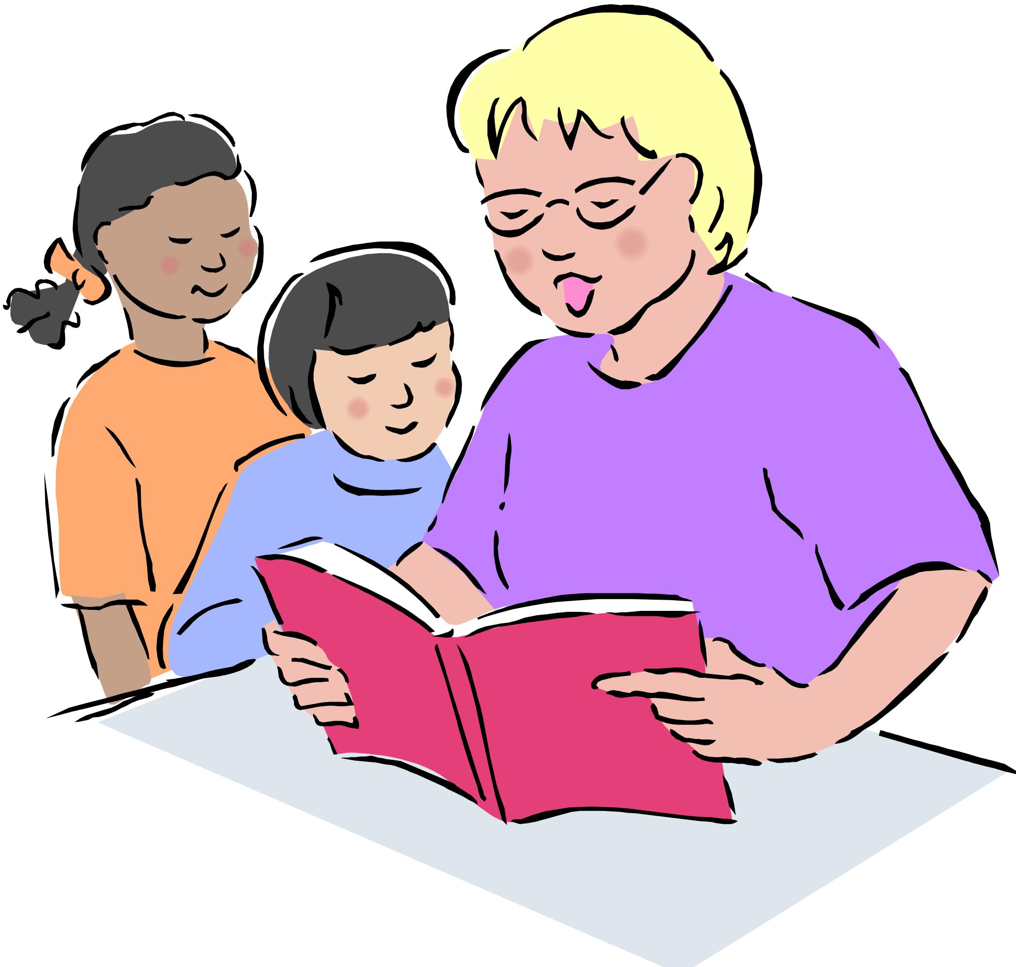 2093x1993 Teacher Reading To Students Free Clipart Images