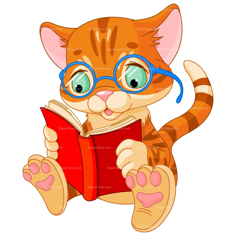 800x800 Animals Reading Clip Art Free Clipart Images