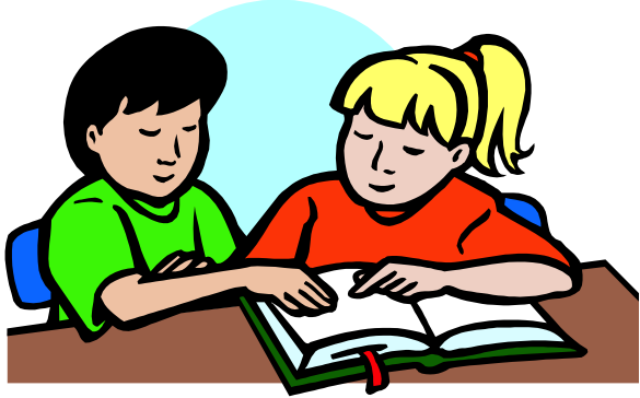 585x364 Buddy Reading Clipart