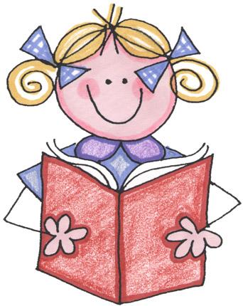 342x430 Child Reading Clip Art