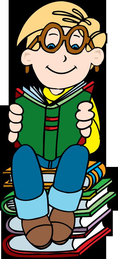 409x900 Clip Art Child Reading