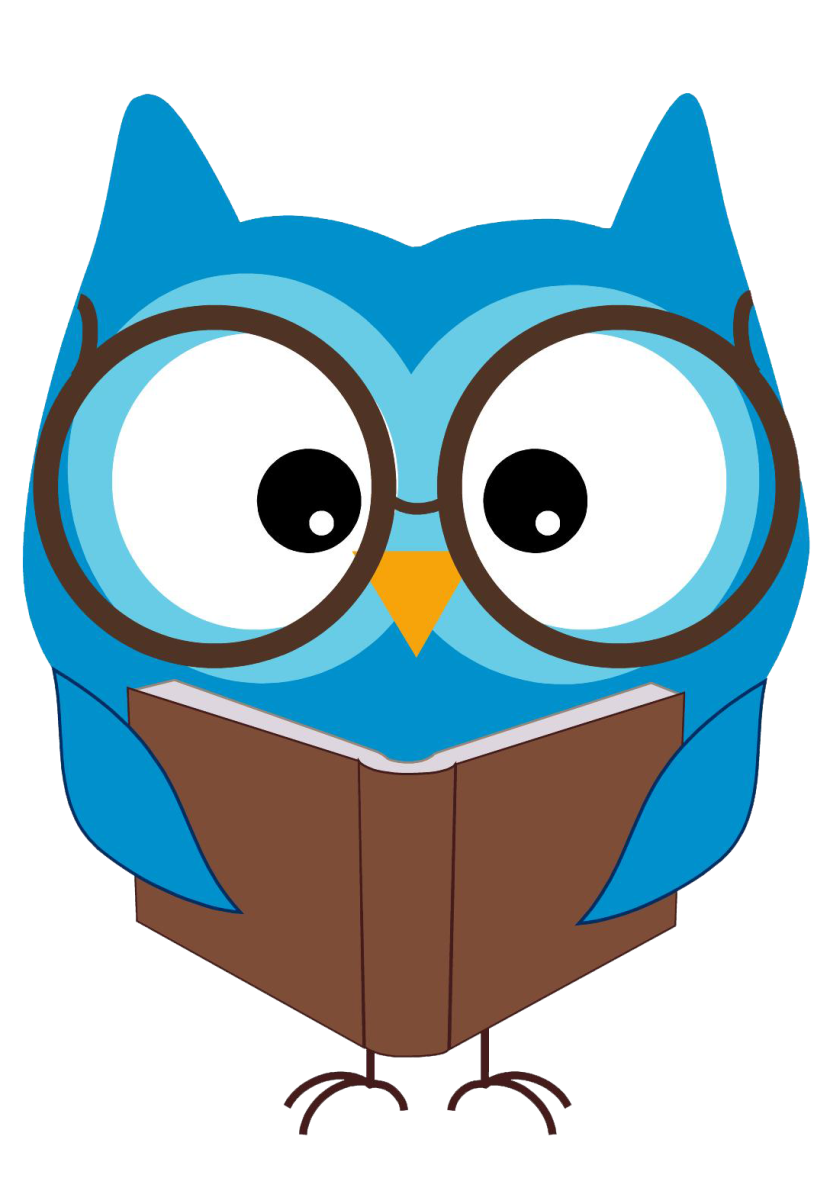830x1191 Owl Reading Clipart