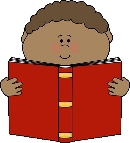 452x500 Boy Reading Clipart
