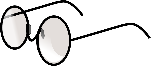 600x263 Round Eye Glasses Clip Art