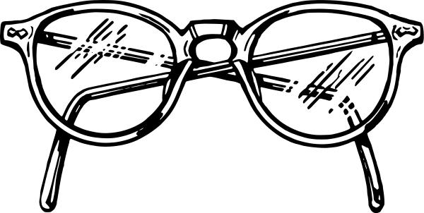 600x302 Spectacles Clipart Vintage