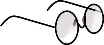 354x155 Eyeglasses Clipart