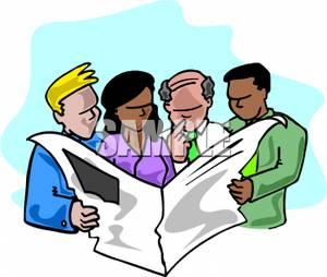 300x254 Group Of People Reading An Article In The Newspaper