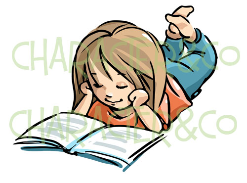 500x370 Girl Reading Clipart