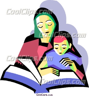 283x308 Parent Reading Clipart