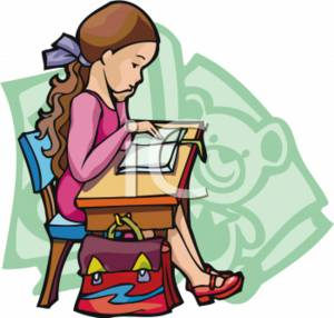 300x286 Reading Clip Art