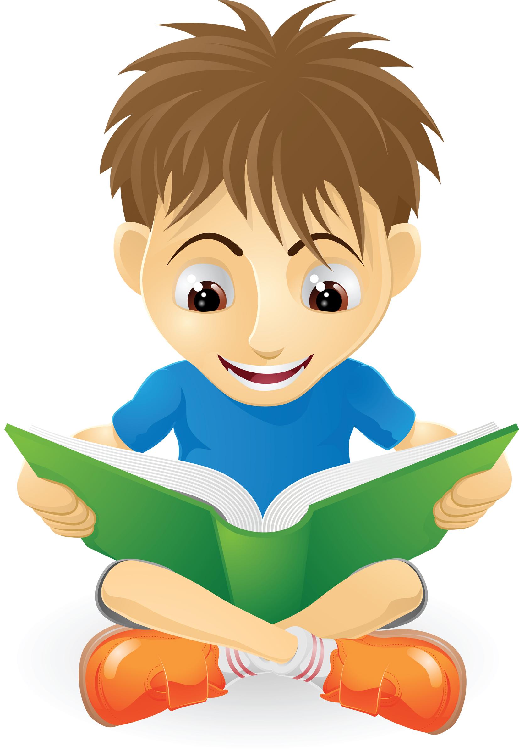 1652x2400 Clip Art Children Reading 101 Clip Art