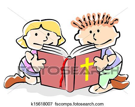 450x358 Clip Art Of Bible Kids K15618007