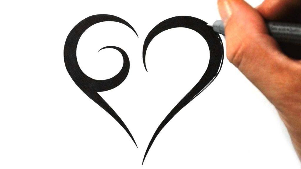 84bc5bae0 1024x576 Valentine ~ How Tow Simple Tribal Heart Tattoo Design Youtube