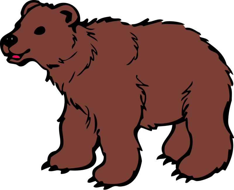 Bear realistic. Animal clipart free download