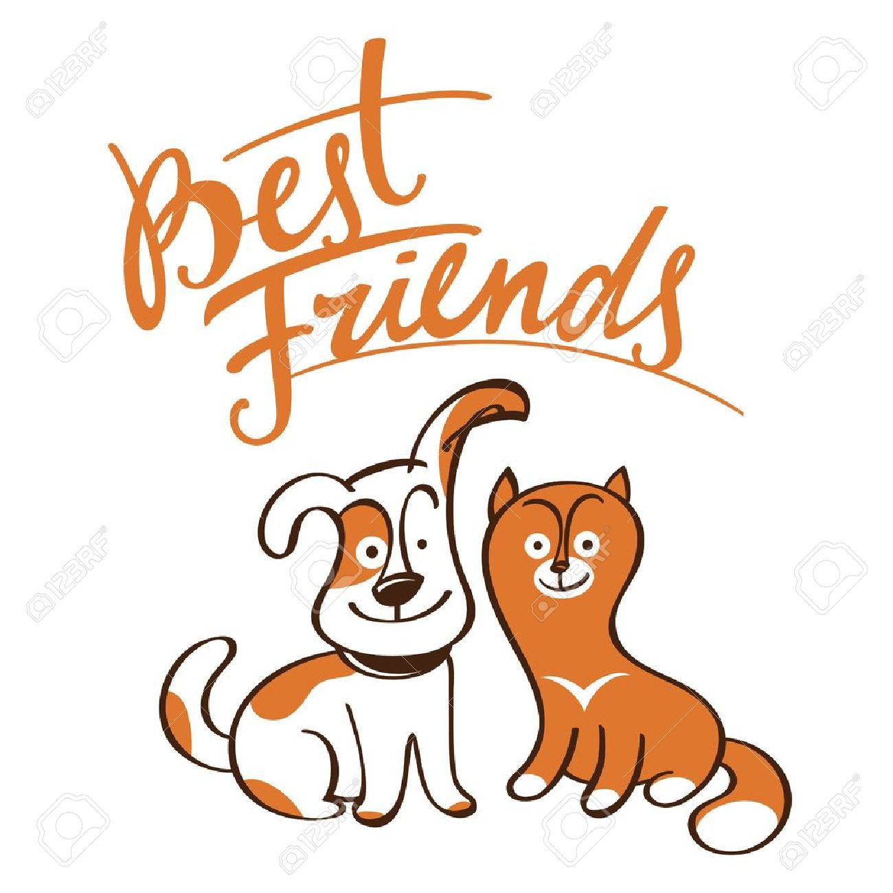 1300x1300 Realistic Clip Art Cat And Dog Friendship Cliparts