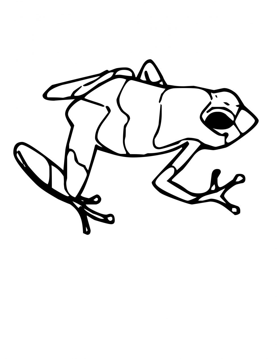 974x1260 Coloring Pages Tadpole Coloring Page Amphibian Pages Tadpole