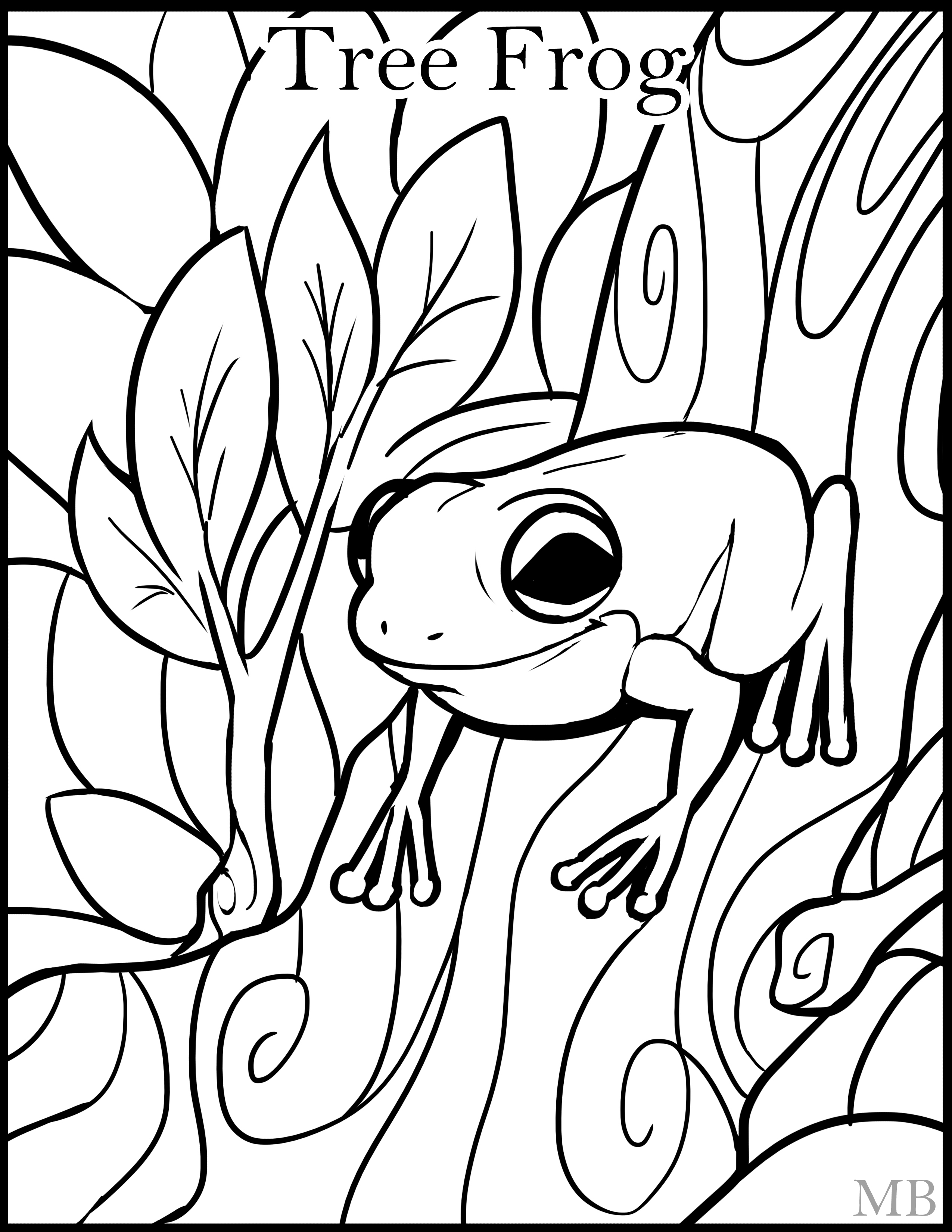 Realistic Frog Coloring Pages | Free download on ClipArtMag