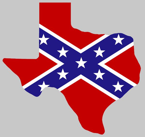 600x566 Rebel Flag TEXAS Sticker American Method