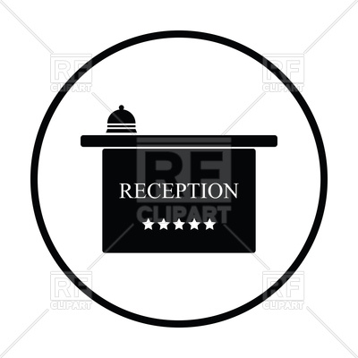 400x400 Hotel Reception Desk Icon Royalty Free Vector Clip Art Image