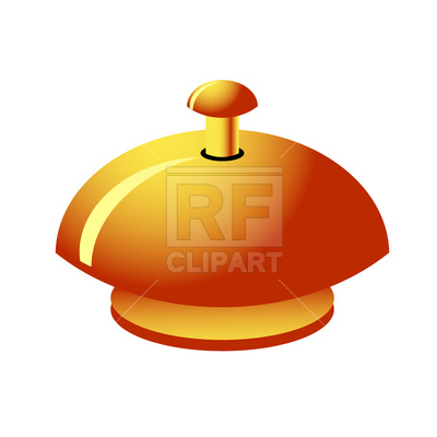 400x400 Reception Service Bell Royalty Free Vector Clip Art Image