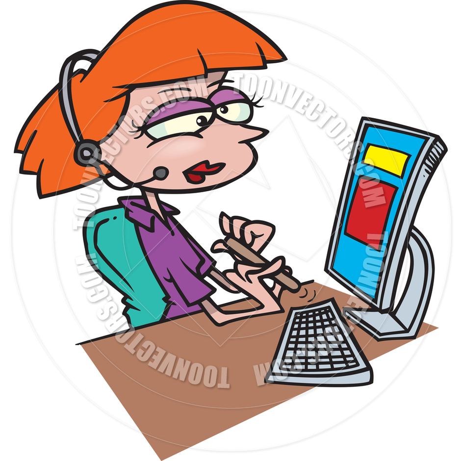 940x940 Office Clipart Receptionist