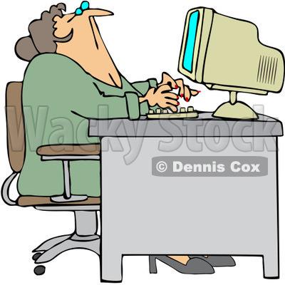 400x400 Receptionist Clipart 1061053 Royalty Free Vector Clip Art