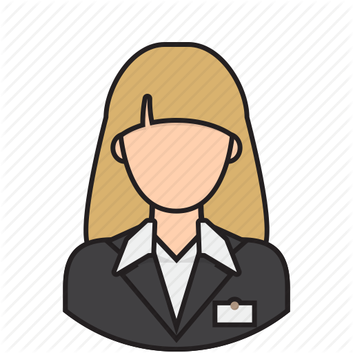 512x512 Airport Clipart Receptionist