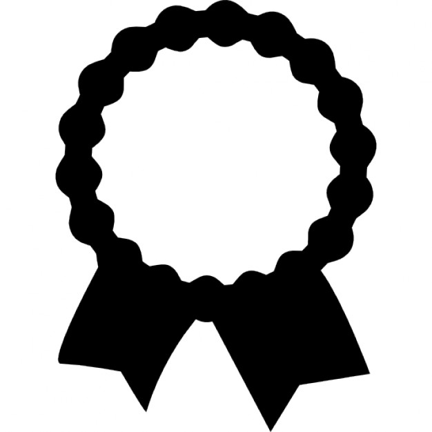 626x626 Recognition Award Label With Ribbon Tails Icons Free Download