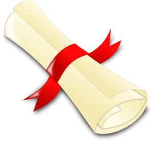 300x276 Rolled Diploma Clip Art