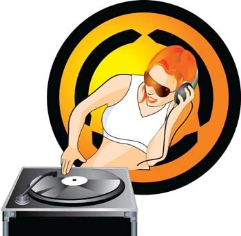 350x342 Disc Jockey Clipart Free
