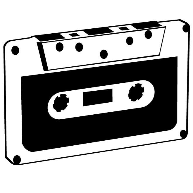 660x660 Compact Cassette Vector Clip Art