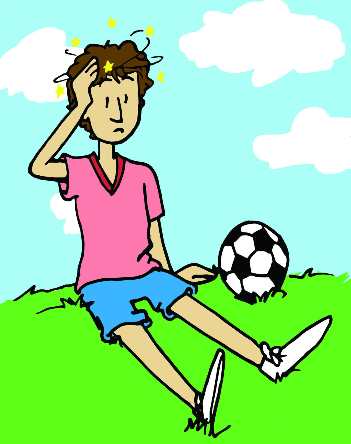 1200x1517 Kids With Concussion Clipart