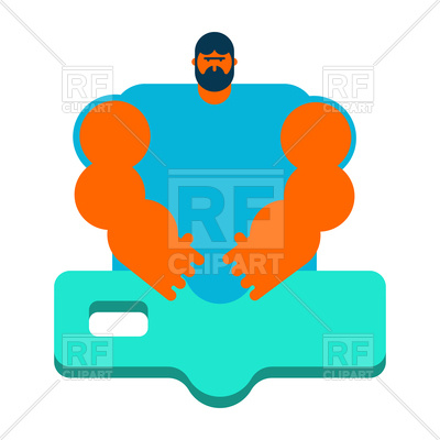 400x400 Masseur. Specialist For Massage. Royalty Free Vector Clip Art