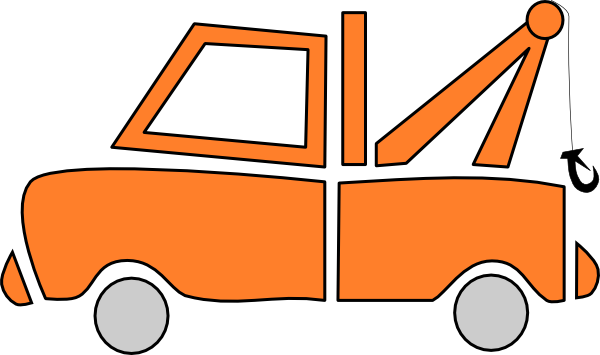 600x355 Orange Tow Truck Clip Art