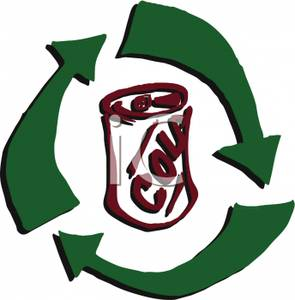 295x300 Can Recycling Clip Art The Recycling Arrows Around A Can Of Soda