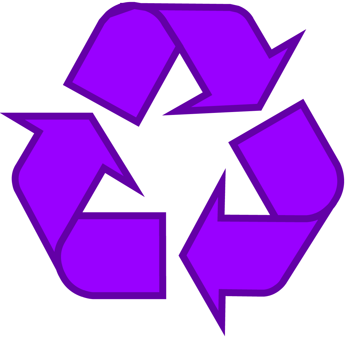 1200x1171 Purple Universal Recycling Symbol Logo Sign