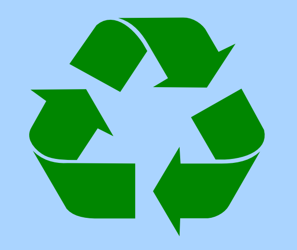 600x505 Recycle Symbol Green On Light Blue Png, Svg Clip Art For Web