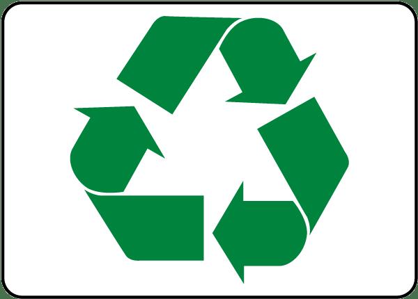 600x430 Recycle Symbol Label J4515 L