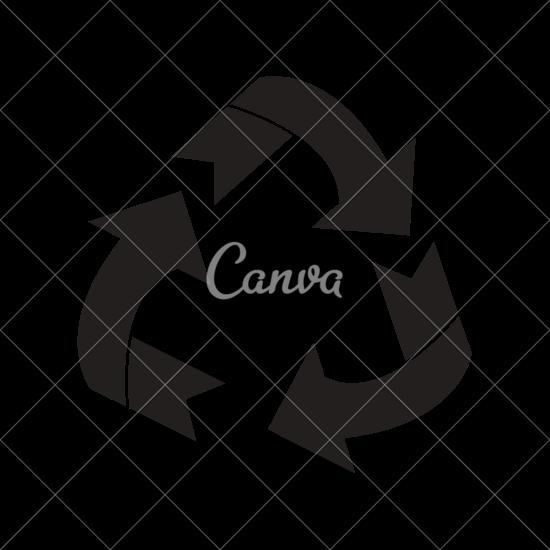 550x550 Environment Arrow Recycle Symbol