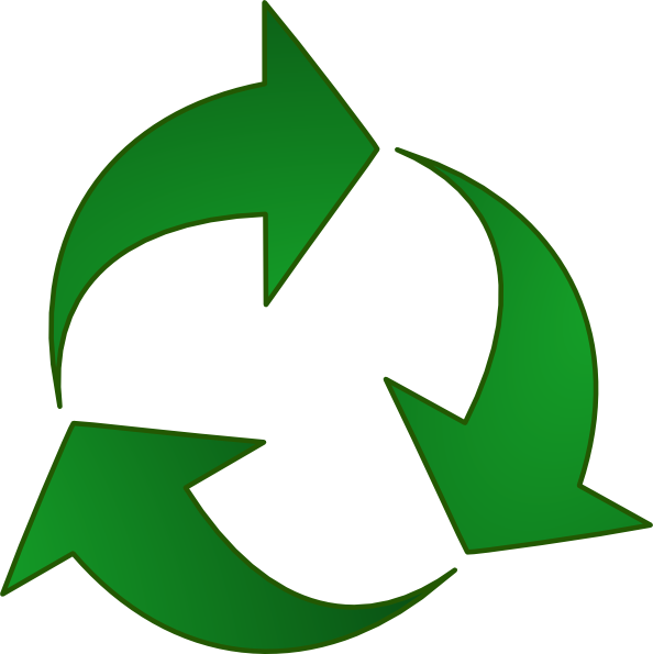 594x595 Green Recycle Arrows Clip Art