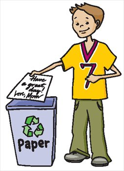 254x350 Trash Clipart Paper Recycling