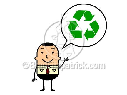 432x324 Cartoon Man With Recycle Symbol Clip Art Man With Recycle Symbol