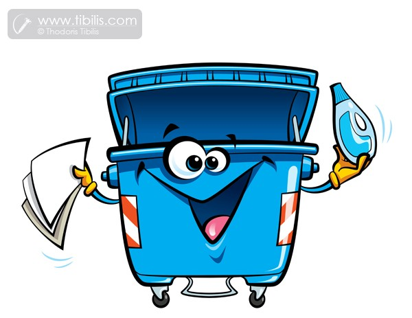 600x463 Cartoon Recycling Trash Can Character Hire An Illustrator