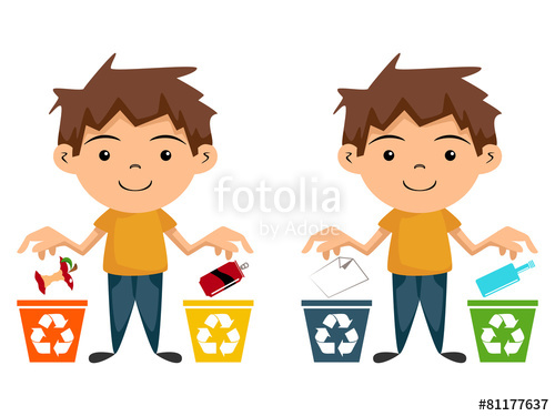 500x375 Child Recycling, Cartoon Character Stock Image And Royalty Free